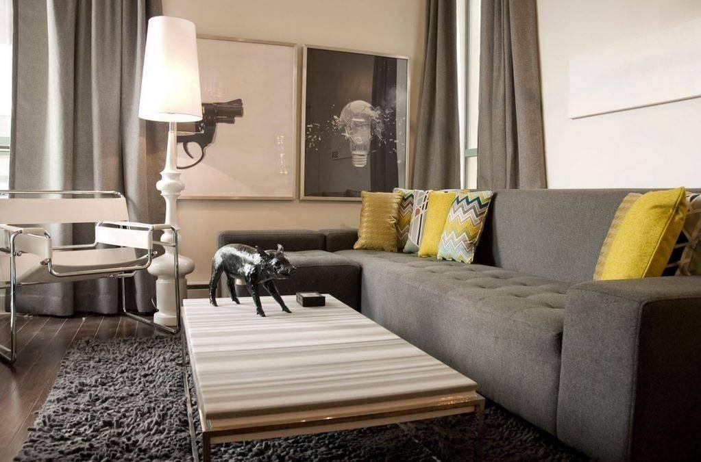 Коричневые шторы в интерьере: 50 лучших примеров с фото