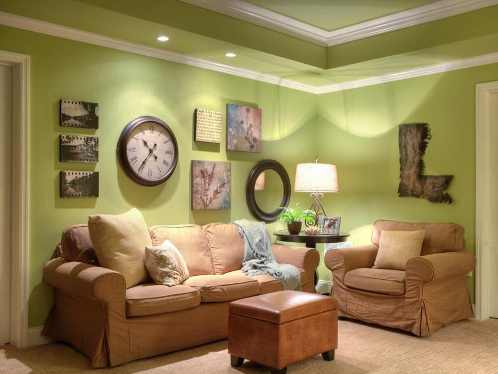 Актуальные сочетания цветов в интерьере гостиной
