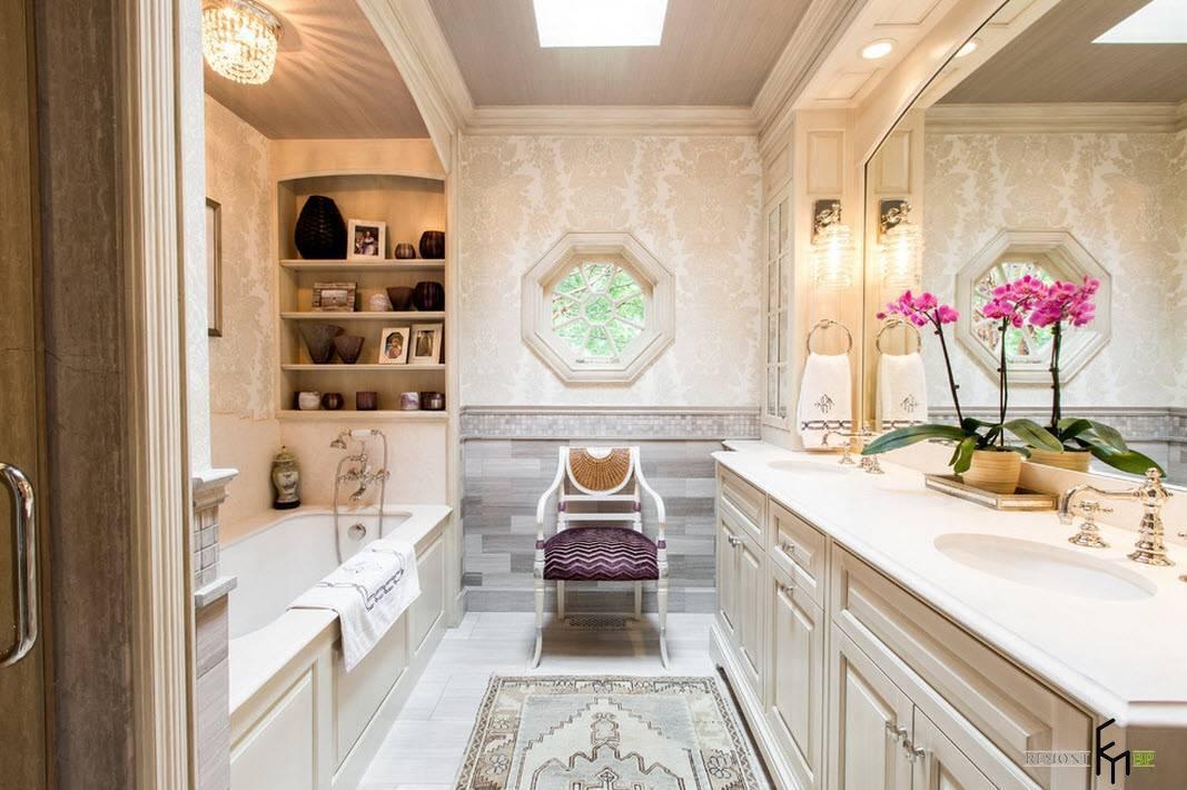 Особенности интерьера ванной в классическом стиле