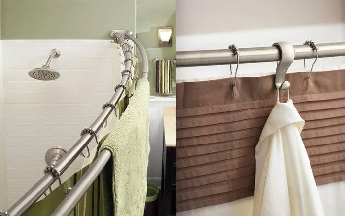 Карниз для ванной угловой - разновидности и применение