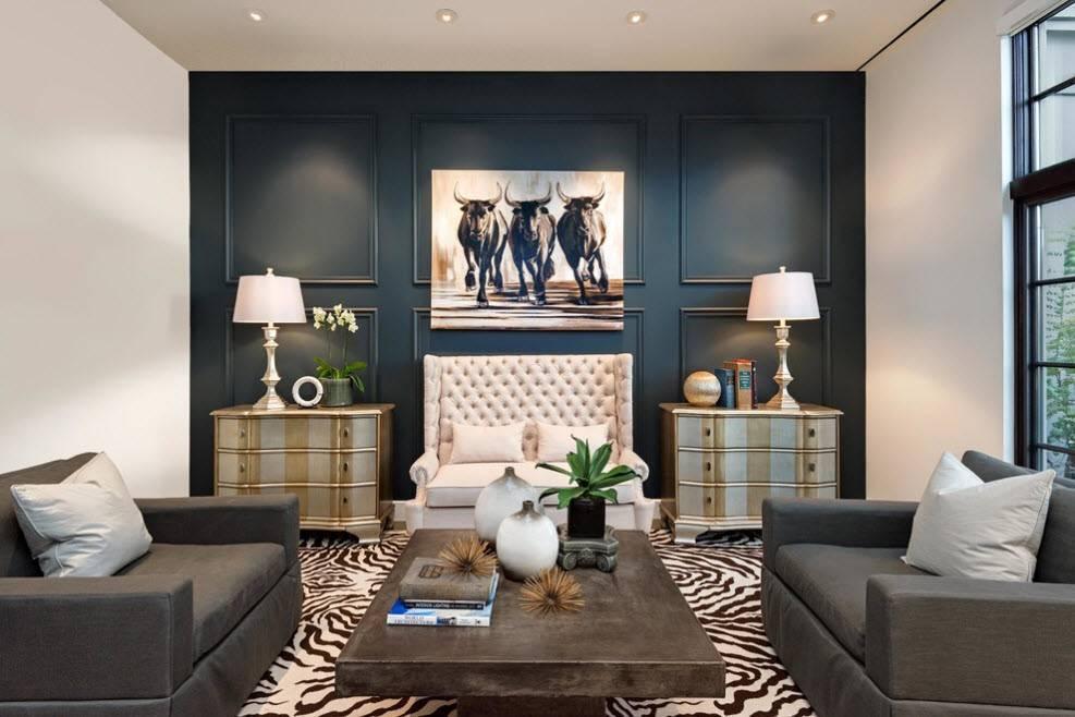 Варианты оформления акцентной стены в гостиной и рекомендации
