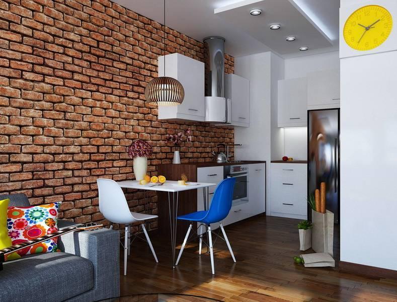 Дизайн кухни с кирпичной стеной (16 фото), варианты интерьера кухни с кирпичной стеной
