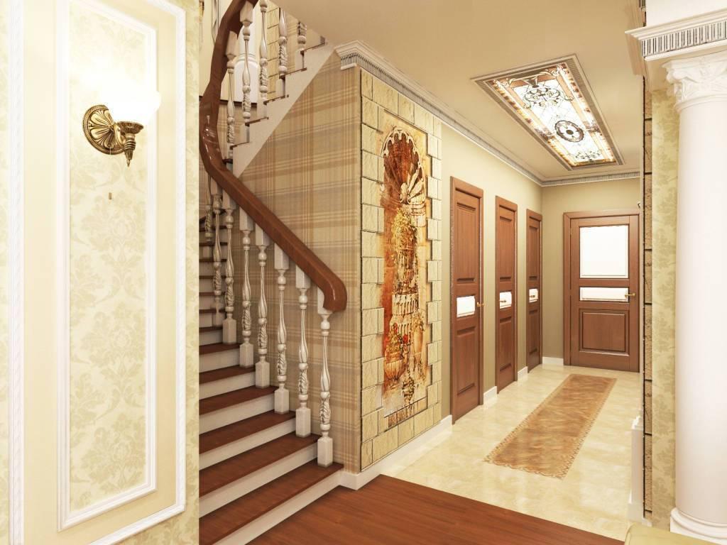 Как создать гармоничный дизайн холла с лестницей на второй этаж в частном доме