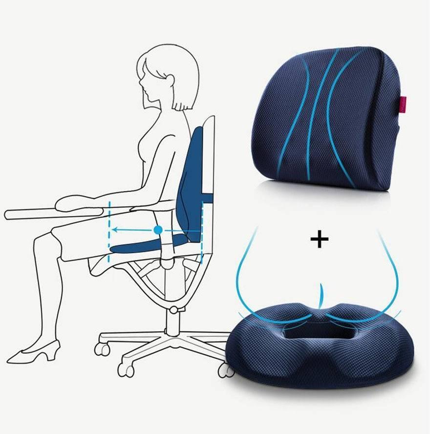 Топ лучших гелевых  ортопедических подушек для сидения