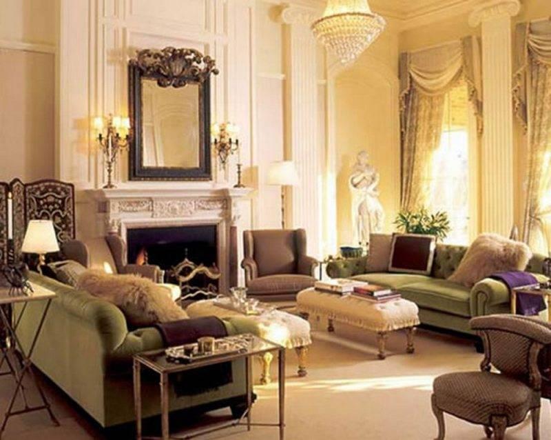 Интерьер гостиной в классическом стиле: принципы сочетания цветов и элементов