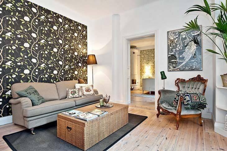 О чем говорит дизайн стен в гостиной: фото и 4 вида обоев