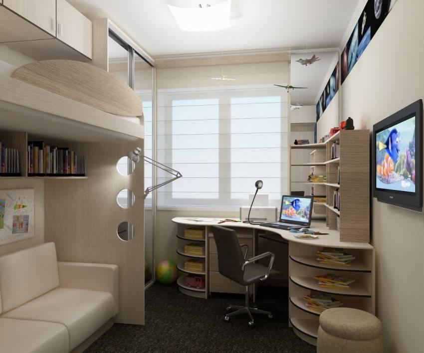 Детская комната 12 кв м для двоих, мальчика и девочку