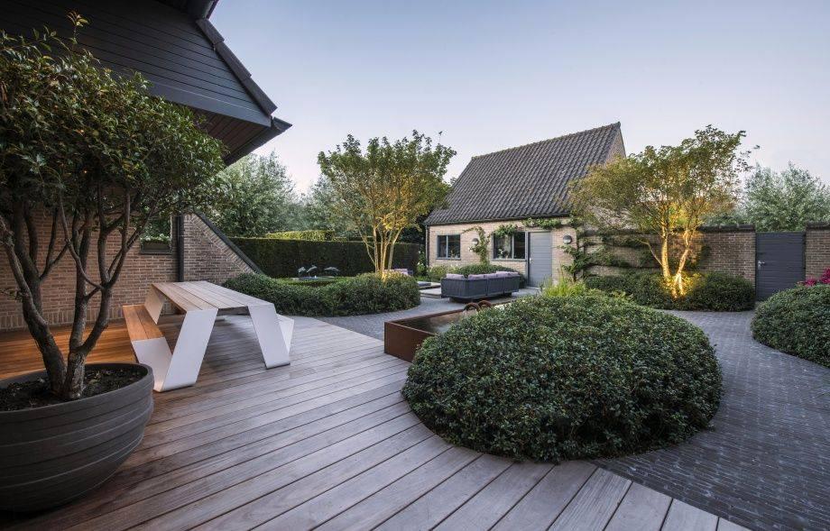 Сад в современном стиле - характерные особенности, материалы, растения, декор, освещение.