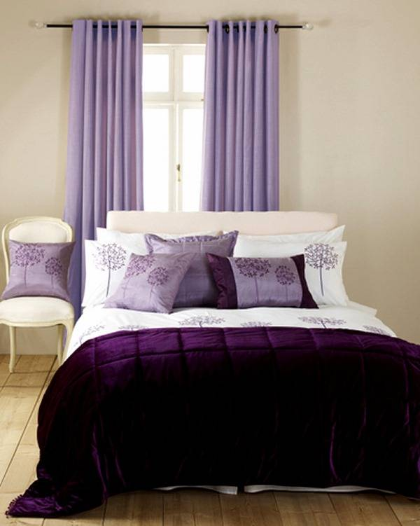 Дизайн штор в фиолетовом цвете — особенности цвета, сочетания, полезные советы