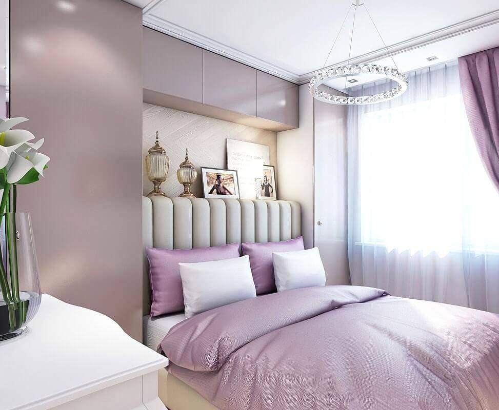 Сиреневая спальня: 100 лучших идей на фото [интерьер 2019]