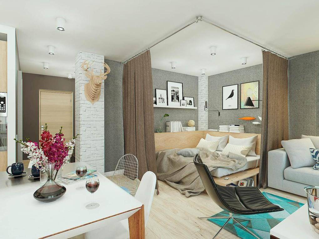 Дизайн однокомнатной квартиры: 7 шагов к удачному проекту