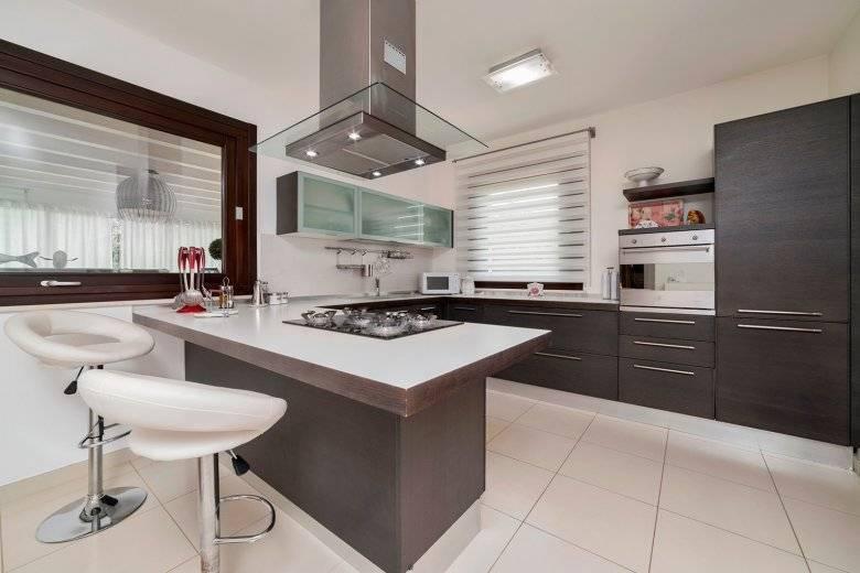 Дизайн и планировка п-образной кухни