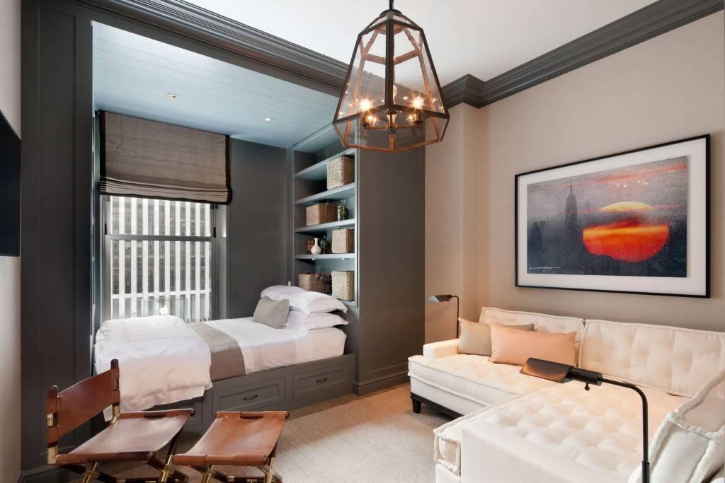 Интерьер спальни с диваном: полезные советы, особенность дизайна и выбор дивана