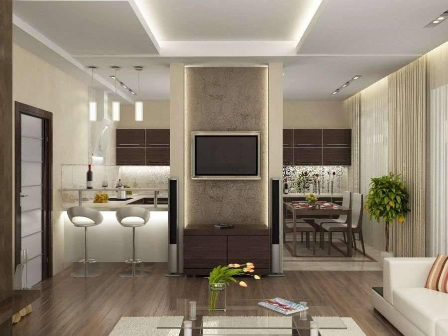 Варианты оформления интерьера кухни-гостиной