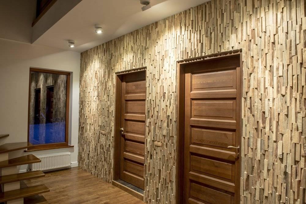 Чем отделать стены в коридоре кроме обоев: 25 фото с примерами