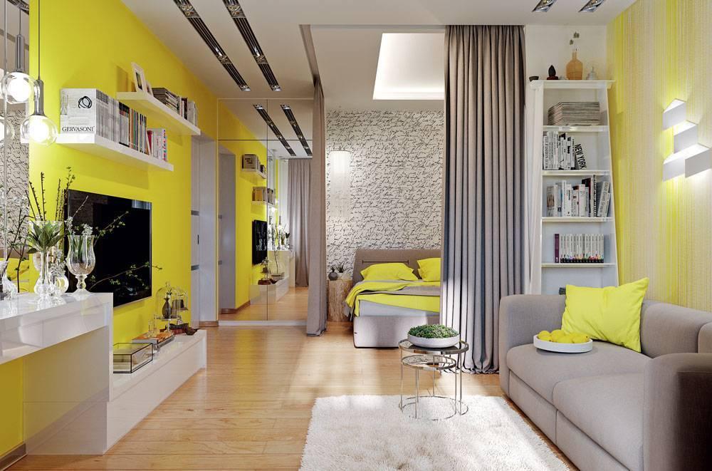 Интерьер однокомнатной квартиры (165 фото): стильные идеи - 165 оформления 1-комнатной квартиры площадью 18 кв. м в современном стиле