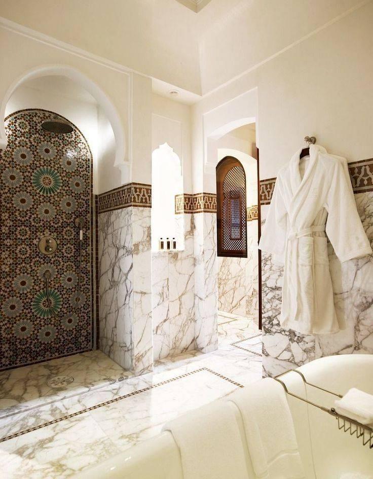 Ванна в восточном стиле: образы сказочных интерьеров