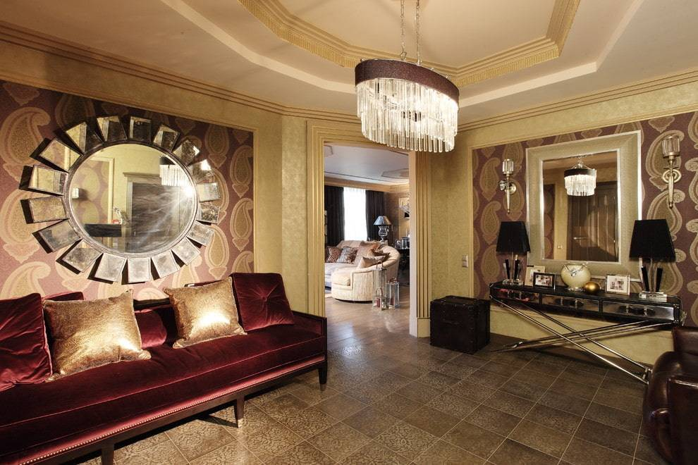 Гостиная в стиле арт деко: дизайн интерьера (в тч с камином), оформление + фото