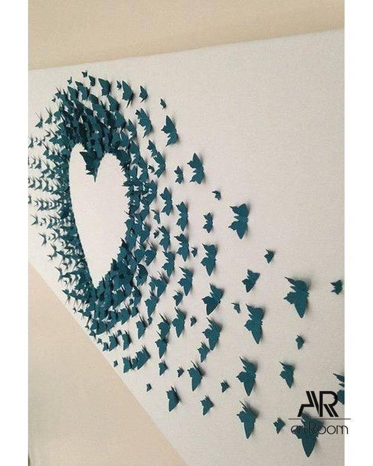 Бабочки на стену (75 фото) - стильный и современный дизайн интерьера для вас