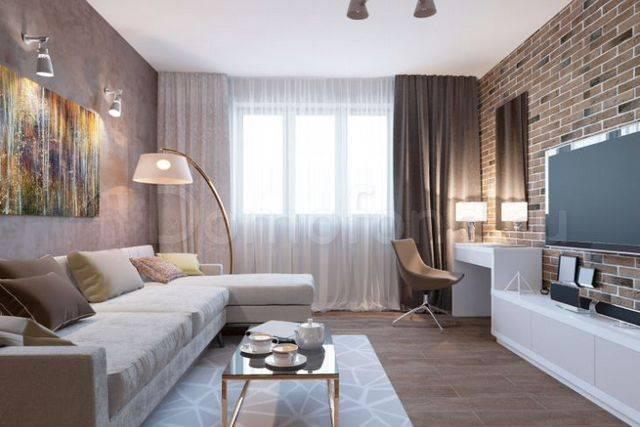 Дизайн квартиры 35 кв. м. [60+ фото] планировки 1-комнатных, студий и евродвушек