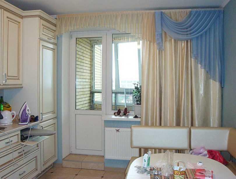 Как выбрать шторы на кухню с балконной дверью