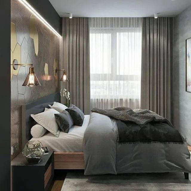 70 идей дизайна спальни в хрущевке (фото)
