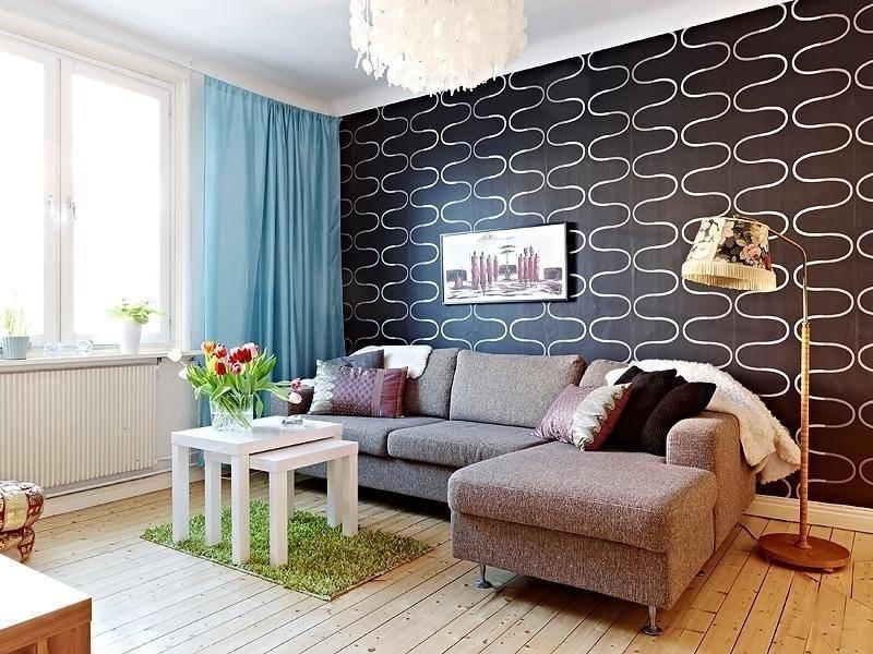 Акцентная стена в гостиной - тонкости интерьера