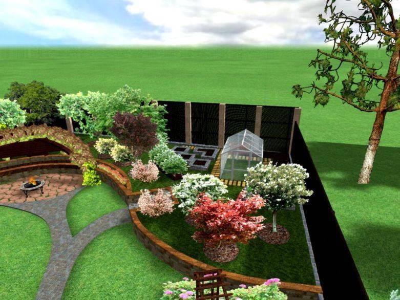 Ландшафтный дизайн дачного участка в 10 соток своими руками. фото