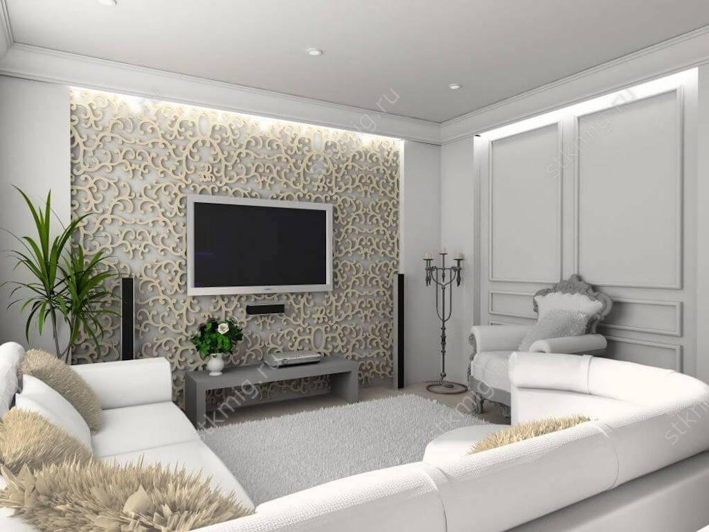 Оформление зоны телевизора в гостиной: как правильно разместить, полезные советы