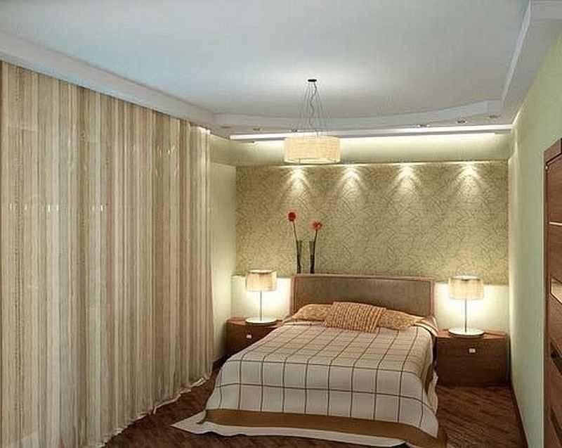Освещение в спальне с натяжными потолками, типы света в спальне на натяжном потолке