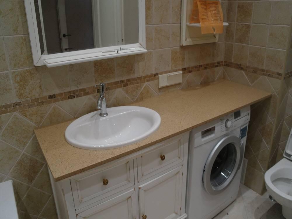 Какую столешницу в ванную под раковину купить - советы по выбору и установки