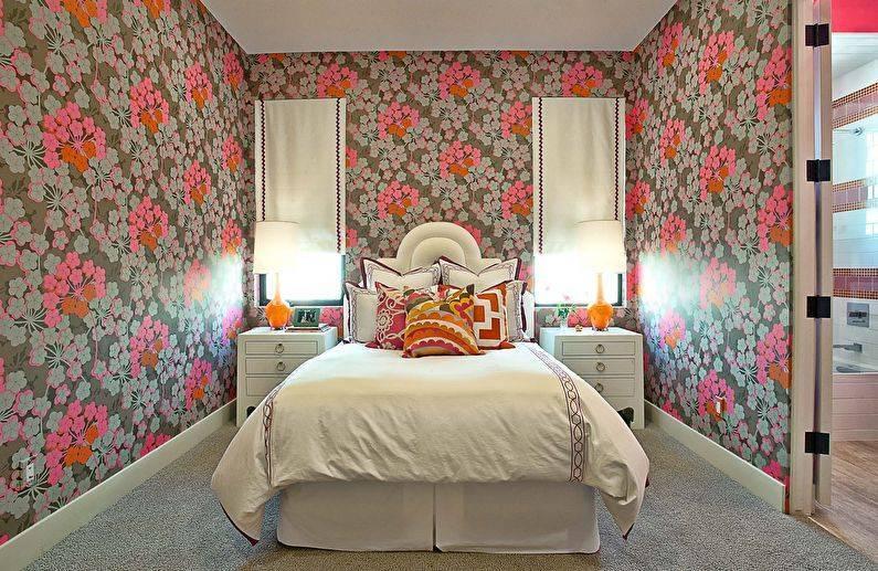 50+ фото обоев для спальни: виды обоев и идеи комбинирования
