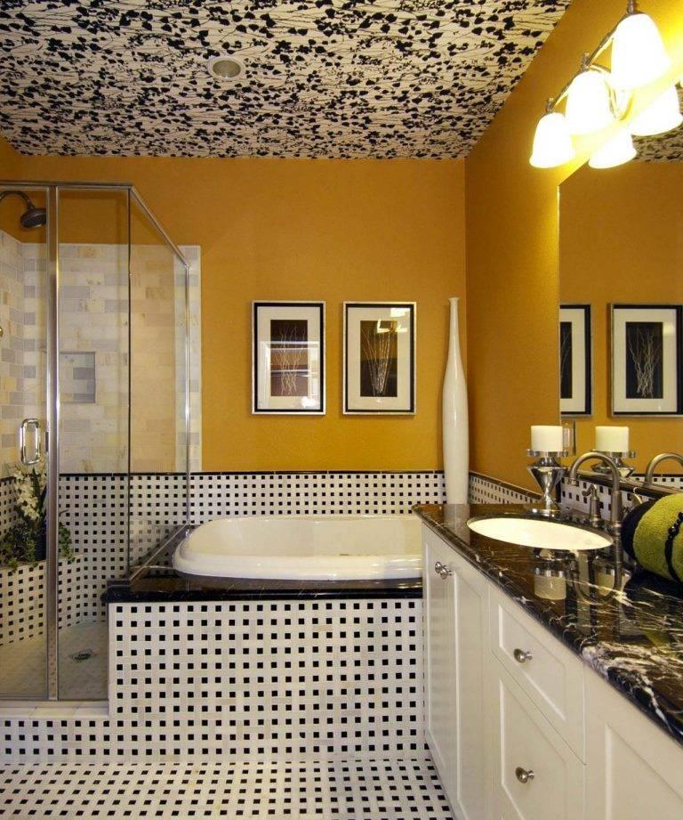 Какой потолок для ванной комнаты лучше выбрать