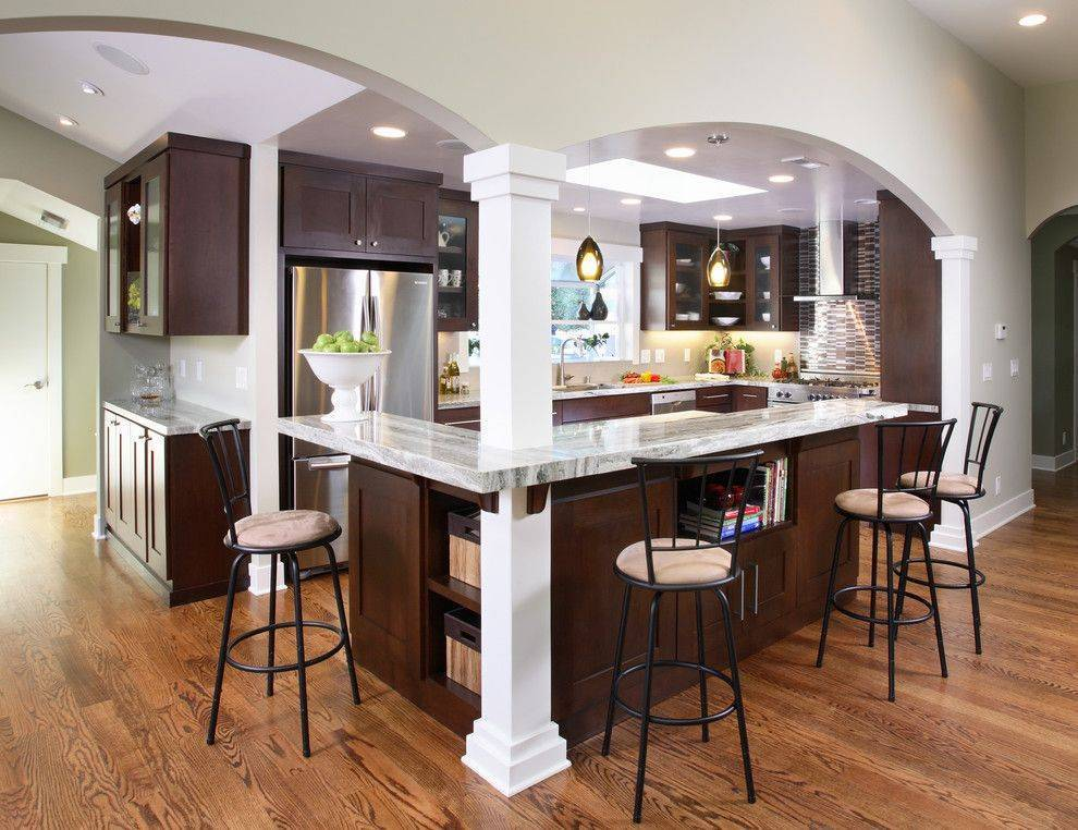 Барная стойка для маленькой кухни - 50 фото-идей, советы