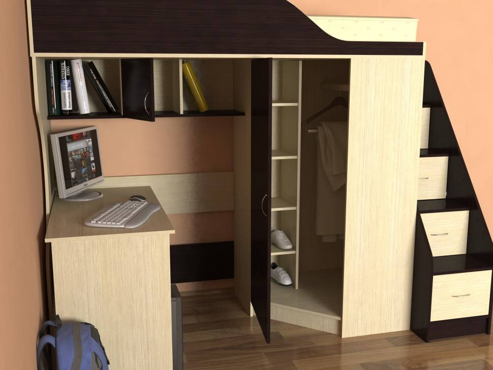 Детская кровать-чердак с рабочей зоной - 48 фото лучших.   семейная кучка