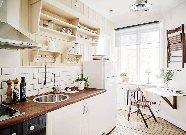 Кухня в скандинавском стиле — 85 фото дизайна интерьеров