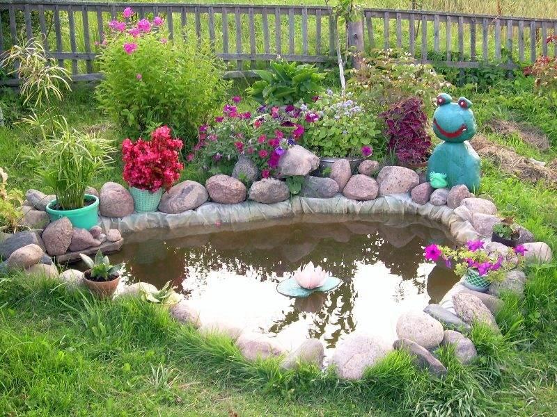Пруд на даче своими руками: фото идеи искусственных декоративных водоемов