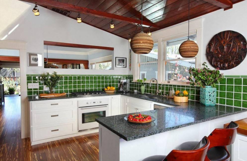 Дизайн кухни в частном доме (24 реальных фото)