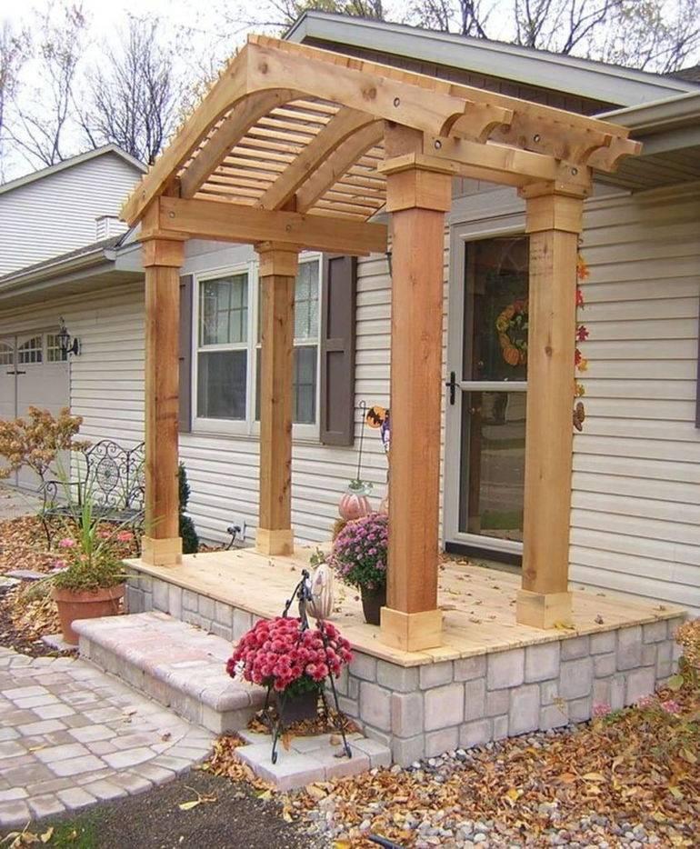 Крыльцо пристроенное к дому своими руками: секреты возведения надёжных конструкций из бетона, кирпича, металла и дерева | 60+ фото & видео