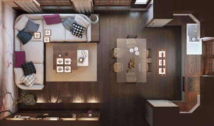 Варианты оформления и обустройства интерьера гостиных комнат 4 на 4
