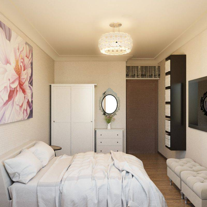 Идеи для дизайна интерьера спальни 9 кв. м