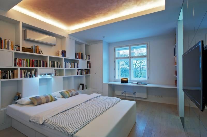 Шкафы над кроватью в спальне: как повесить (+70 фото идей)