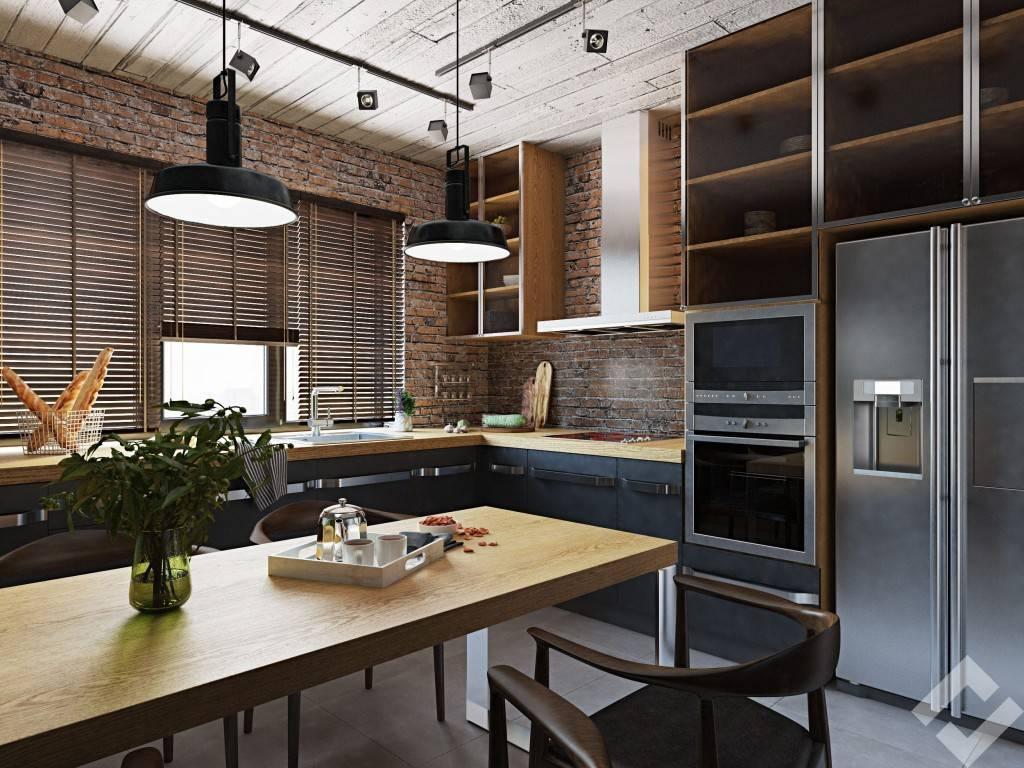 Кухня в стиле лофт: лучшие решения интерьера
