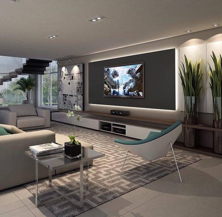 Телевизор в стене гостиных комнат – варианты оформления зоны интерьер и дизайн