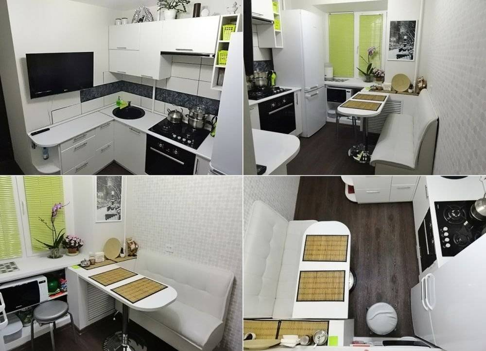 Дизайн кухни 5 кв м: планировка с холодильником, малогабаритный интерьер  - 41 фото