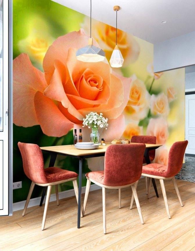 Комбинированные обои для кухни в интерьере (63 фото): комбинирование и дизайн в интерьере