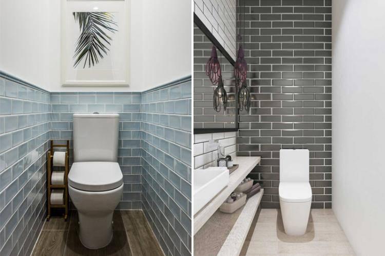 Плитка для туалета: примеры дизайна