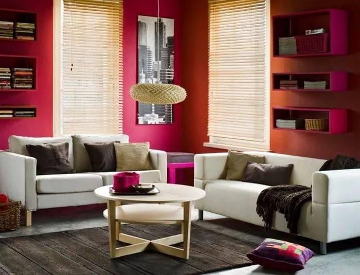 Красные оттенки в разных стилях интерьера: идеи и применение
