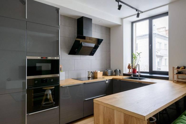 100 лучших идей дизайна: кухня-гостиная с барной стойкой на фото