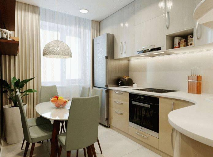 Обустройство кухни 10 кв. метров с диваном